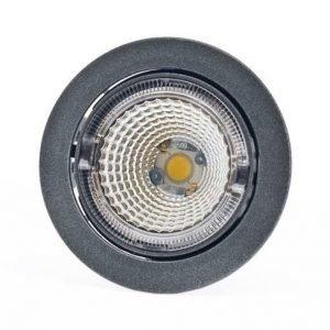 LED-kohdevalaisin Universal Design Spot S102 9W 60° 4000K tummanharmaa/oranssi sisä
