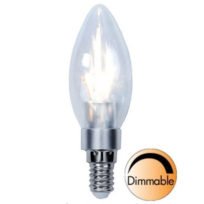 LED-kynttilälamppu Illumination LED 338-01 Ø35x111 mm E14 kirkas 3
