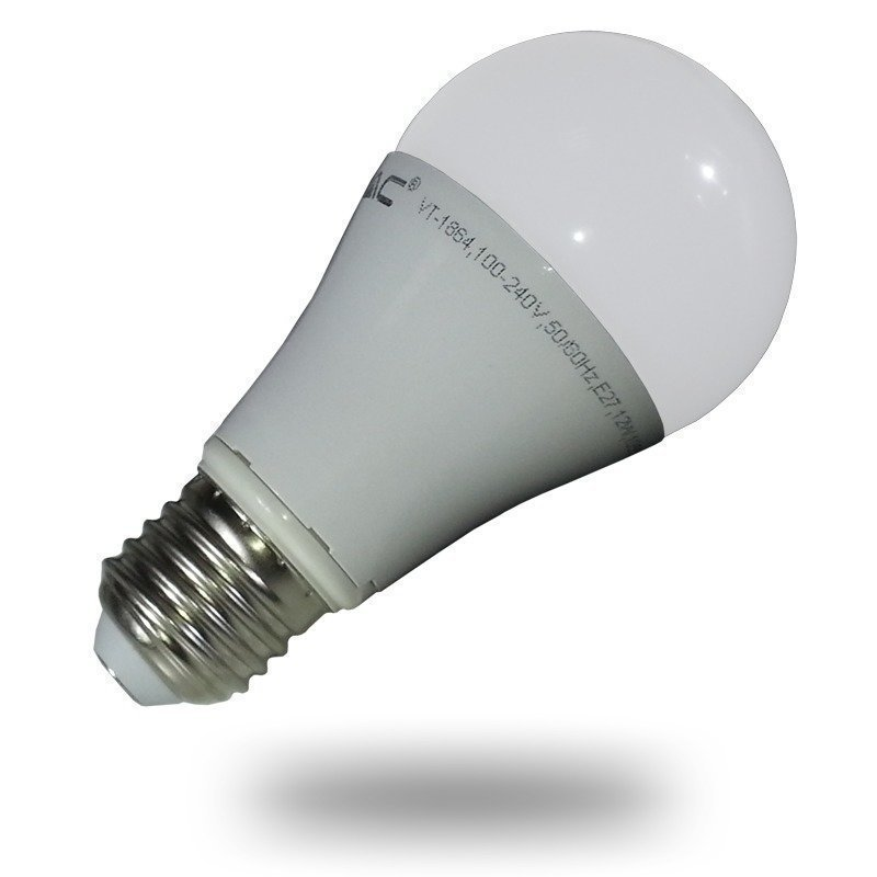 LED-lamppu A60 V-TAC VT-1864 12W 230V 4500K 1055lm IP20 Ø 60mm