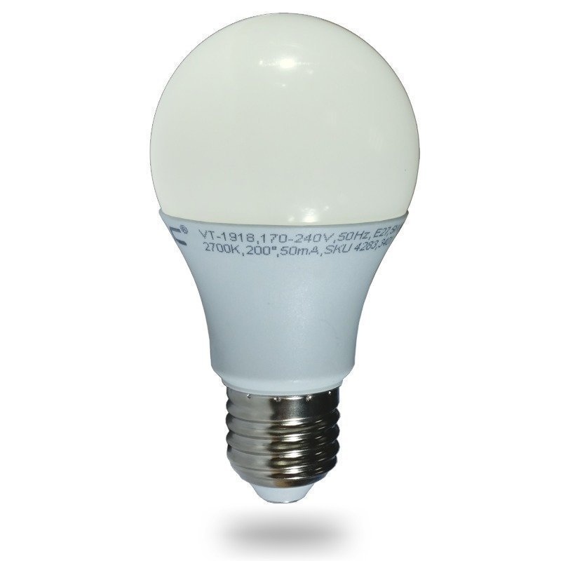 LED-lamppu A60 V-TAC VT-2007 7W 230V 2700K 470lm IP20 Ø 60mm