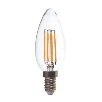 LED-lamppu Kynttilä V-TAC VT-1986 4W 230V 2700K 400lm IP20 Ø 35mm