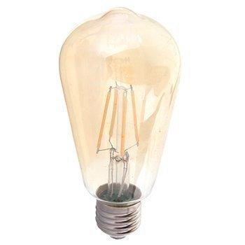 LED-lamppu ST64 V-TAC VT-1964 4W 230V 2200K 350lm IP20 Ø 58mm amber kupu