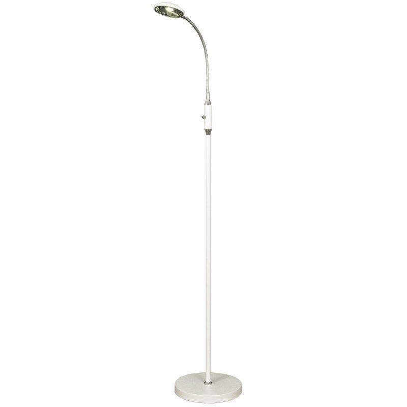 LED-lattiavalaisin Hero 230x520x1350 mm valkoinen/kromi