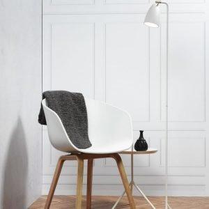 LED-lattiavalaisin Nexus Ø 260x1450 mm valkoinen