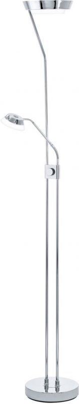 LED-lattiavalaisin Sarrione kromi himmenninkytkin keinukytkin