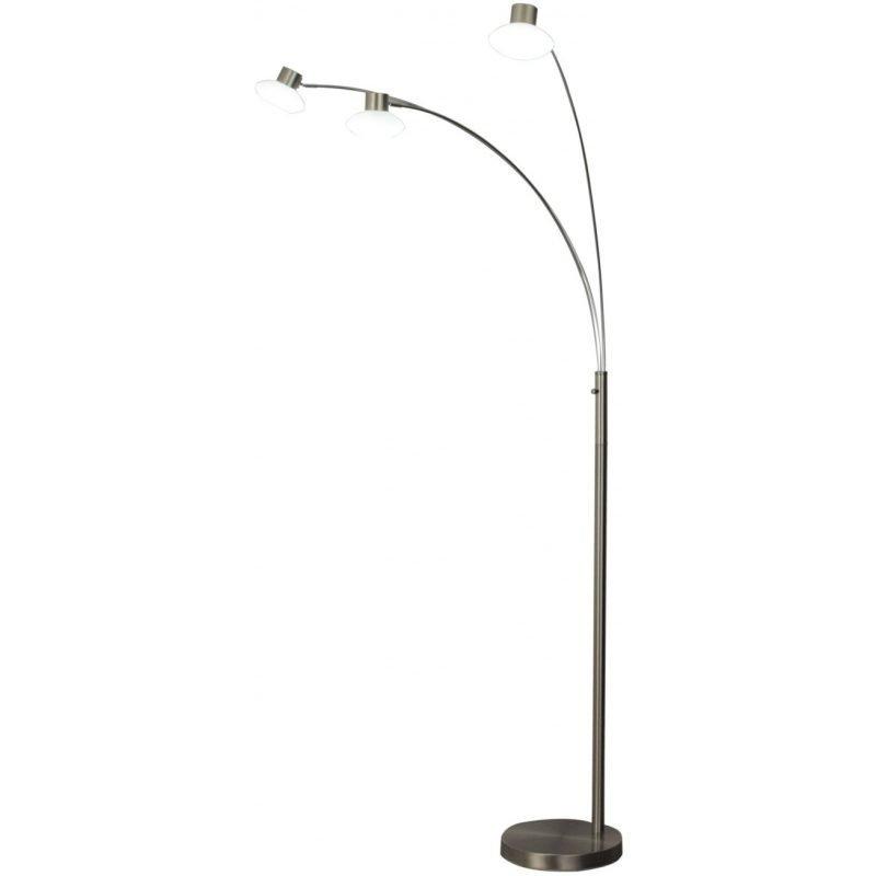 LED-lattiavalaisin Scan Lamps Tomo 920x800x2030 mm 3-osainen satiiniteräs