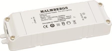 LED-liitäntälaite MB 129x36x21 mm 24V 700mA 5-6 kpl/2
