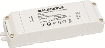 LED-liitäntälaite MB 129x36x21 mm 28V 350mA 5-7 kpl/1