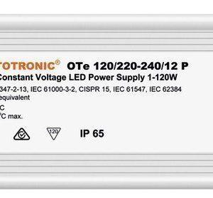 LED-liitäntälaite Triton 120W OTP IP67 12/230V 250x60x39 mm