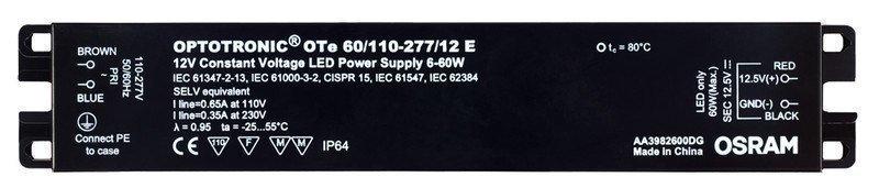 LED-liitäntälaite Triton 60W OTE IP64 12/230V 241x43x30 mm