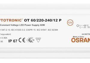 LED-liitäntälaite Triton 60W OTP IP67 12/230V 180x50x34 mm