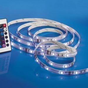 LED-nauha Airam LED Strip RGB 2 10x3000 mm 420 lm/m + virtalähde + himmennin