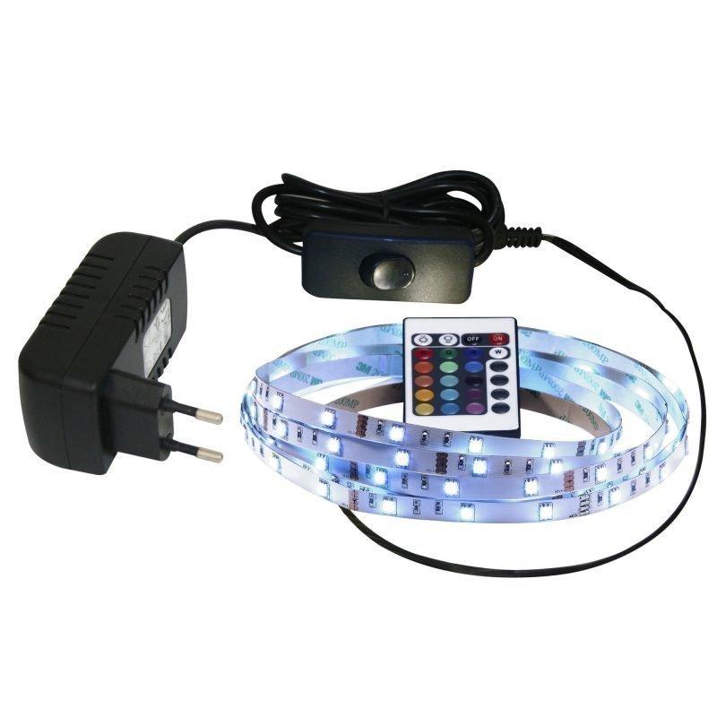 LED-nauha Nordlux 2x8x4000 mm RGB + muuntaja + kauko-ohjain