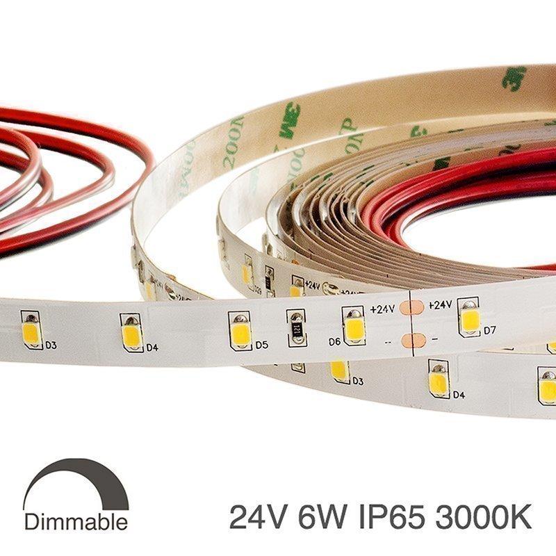 LED nauha WHITE PREMIUM 24V 6W IP65 3000K