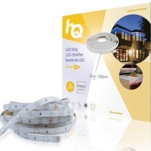 LED-nauha helppo kiinnitys RGB sisä- tai ulkokäyttöön 30 LED-valoa/metri 5 00 m