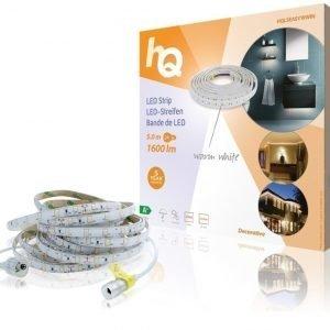 LED-nauha helppo kiinnitys lämmin valkoinen sisä- tai ulkokäyttöön 1600lm 5 00m