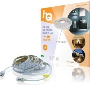 LED-nauha helppo kiinnitys puhdas valkoinen sisä- tai ulkokäyttöön 2900 lm 5 00 m