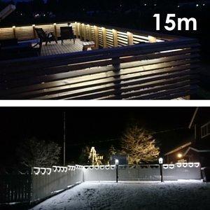 LED nauha terassipaketti 15 metriä himmennettävä IP65