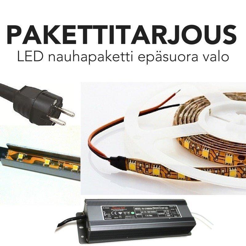 LED nauhapaketti epäsuoraan valaistukseen TEHO himmennettävä
