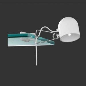 LED-nipistinvalaisin Quidam 250x105 mm valkoinen