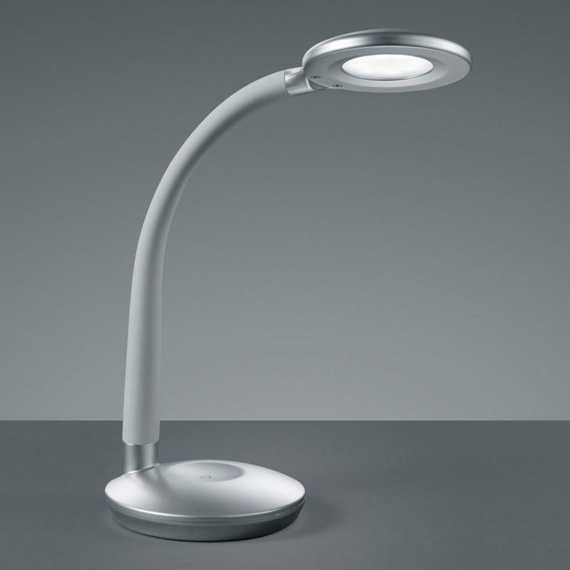 LED-pöytävalaisin Cobra Ø 130x465 mm titaani