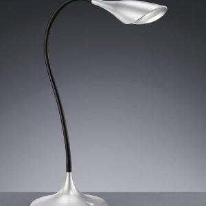 LED-pöytävalaisin Flamingo Ø 170x400 mm harmaa/musta