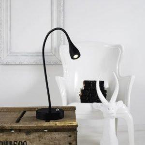 LED-pöytävalaisin Mento Ø 35x390 mm musta