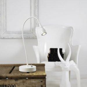 LED-pöytävalaisin Mento Ø 35x390 mm valkoinen