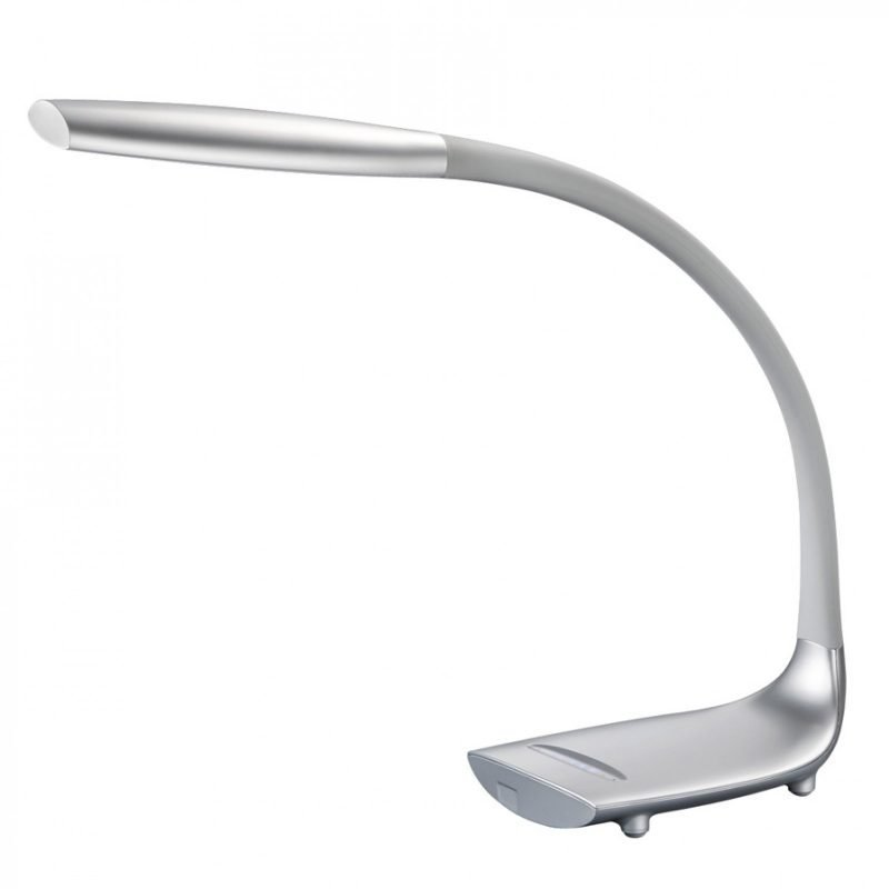LED-pöytävalaisin Slender 450x130x500 mm titaani