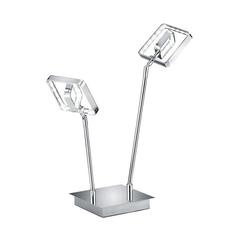 LED-pöytävalaisin Tivoli 320x150x450 mm 2-osainen kromi