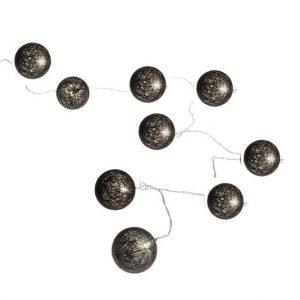 LED pallovalosarja puuvilla MUSTA