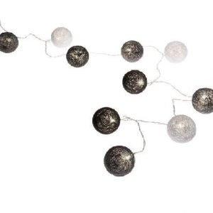 LED pallovalosarja puuvilla musta-valk-harmaa 24xLED