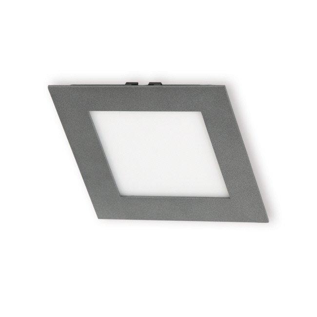 LED-paneeli Interno 15W 4000K IP44 168x168 mm uppo harmaa himmennettävä