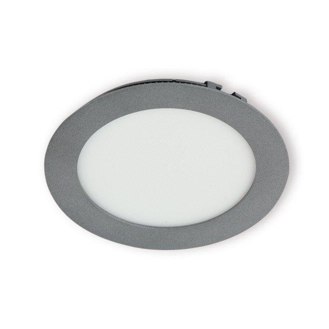 LED-paneeli Interno 8W 4000K IP44 Ø 117 mm uppo harmaa himmennettävä