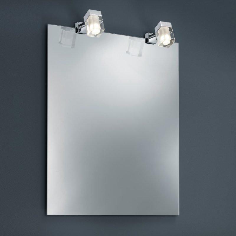 LED-peilivalaisinpari H2O 2819 42x110x70 mm IP44 2 kpl kromi/kirkas/huurre