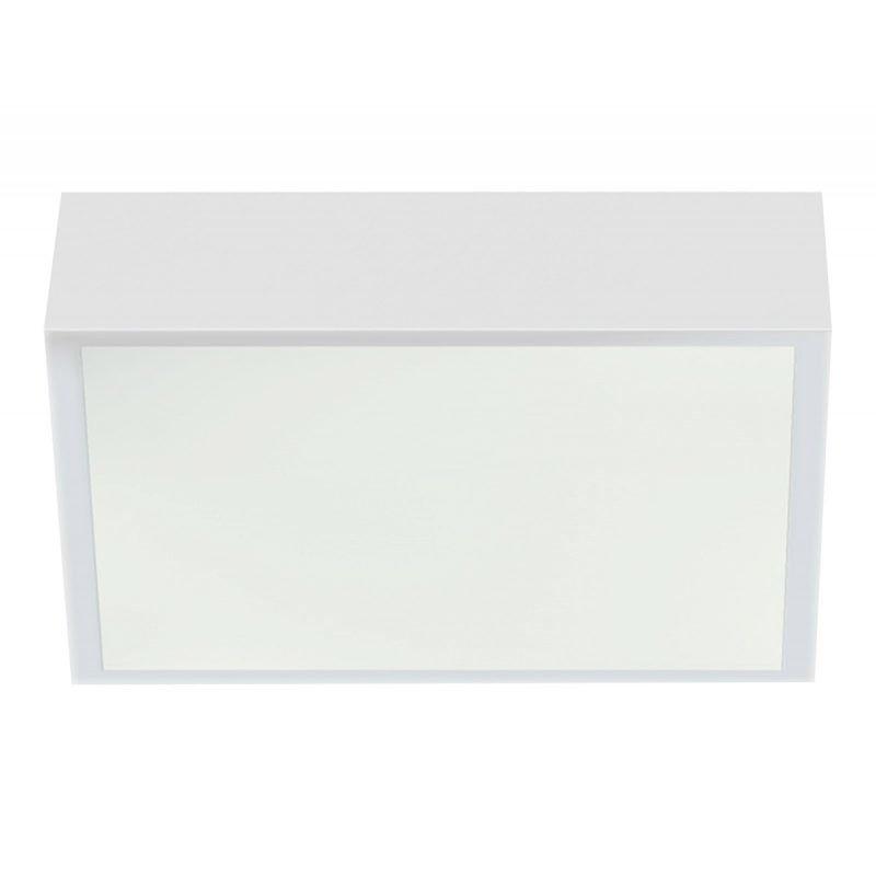 LED-plafondi Acri IP44 300x300x80 mm valkoinen liiketunnistimella