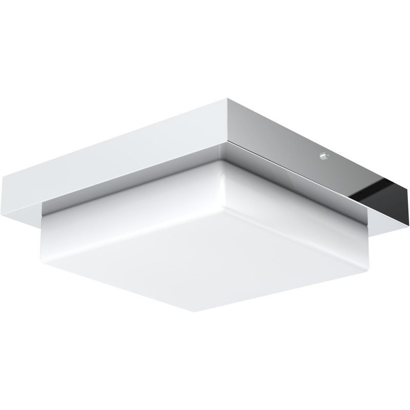 LED-plafondi Aneta Cutro IP44 Ø 263x62 mm kromi