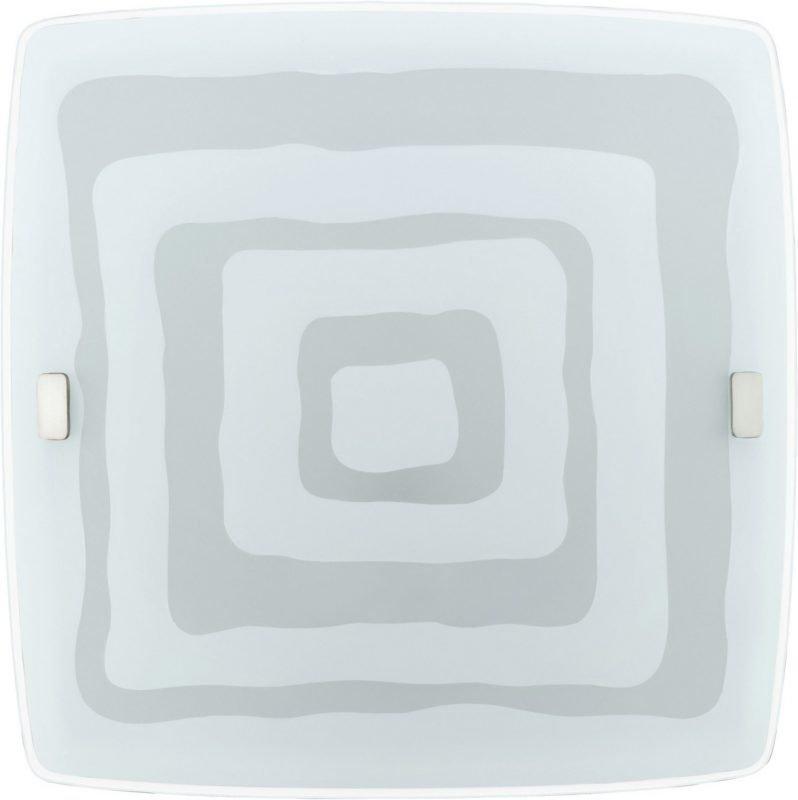 LED-plafondi Borgo 335x335 mm valkoinen/kuvioitu