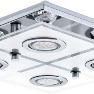 LED-plafondi Cabo 290x290x70 mm 4-osainen kromi/valkoinen/kirkas