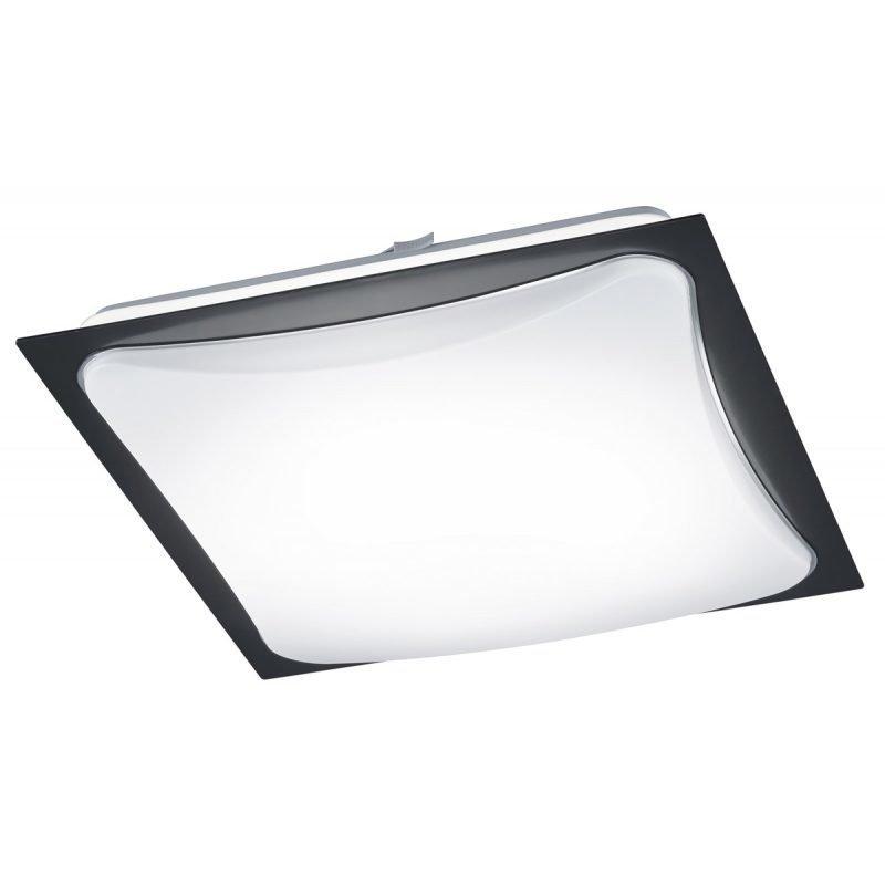 LED-plafondi Cornet 400x400x95 mm musta/opaali