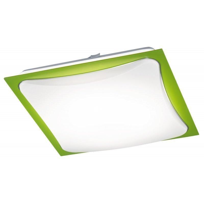 LED-plafondi Cornet 400x400x95 mm vihreä/opaali