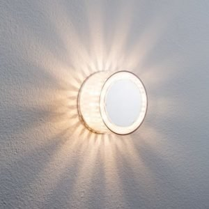 LED-plafondi DecoBeam Ø 103x54 mm mattakromi kahdella efektikalvolla