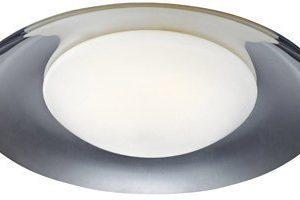 LED-plafondi Pastille Ø 360x110 kromi/valkoinen IP44
