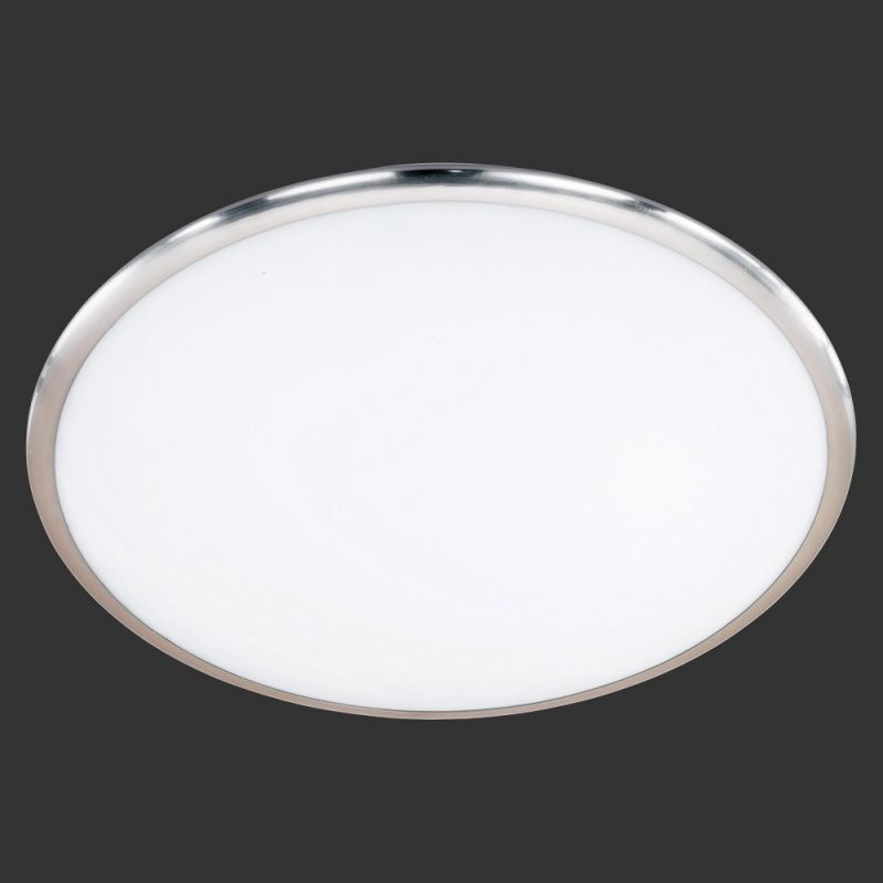 LED-plafondi Serie 6252 Ø 300x95 mm harjattu teräs/valkoinen