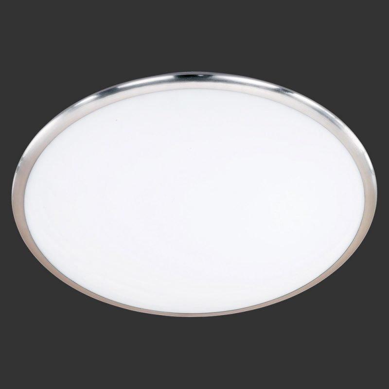 LED-plafondi Serie 6252 Ø 410x110 mm harjattu teräs/valkoinen