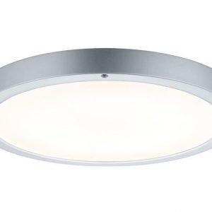 LED-plafondi Smooth LED-Panel Ø 360x35 mm mattakromi/valkoinen