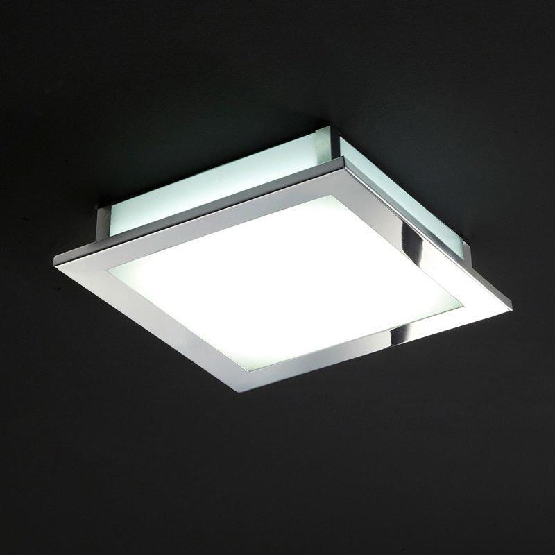 LED-plafondi Square 295x295x65 mm kromi/opaalilasi