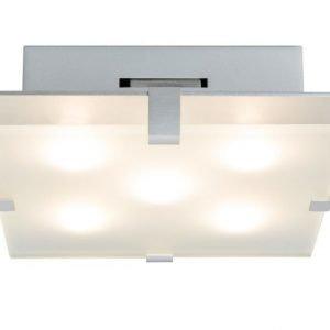 LED-plafondi Xeta 200x300x68 mm mattakromi/lasi