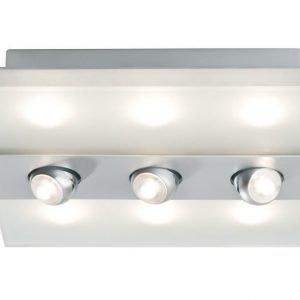 LED-plafondi Xeta 320x320x88 mm mattakromi himmennettävä
