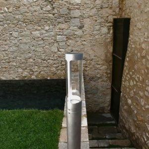LED-pollarivalaisin Helix Ø 80x800 mm sinkitty teräs